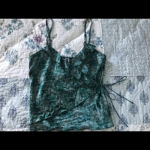 Women's Teal Wrap Blouse